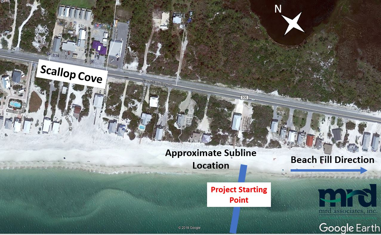 St. Joseph Peninsula Beach Project 2019 Subline Location | Cape San Blas, St. Joseph Peninsula, Florida, USA