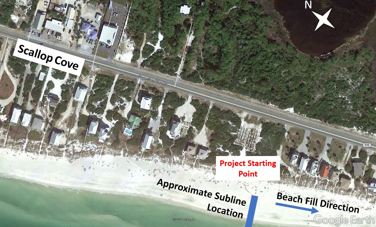 St Joseph Peninsula Beach Project Subline Location Cape San Blas