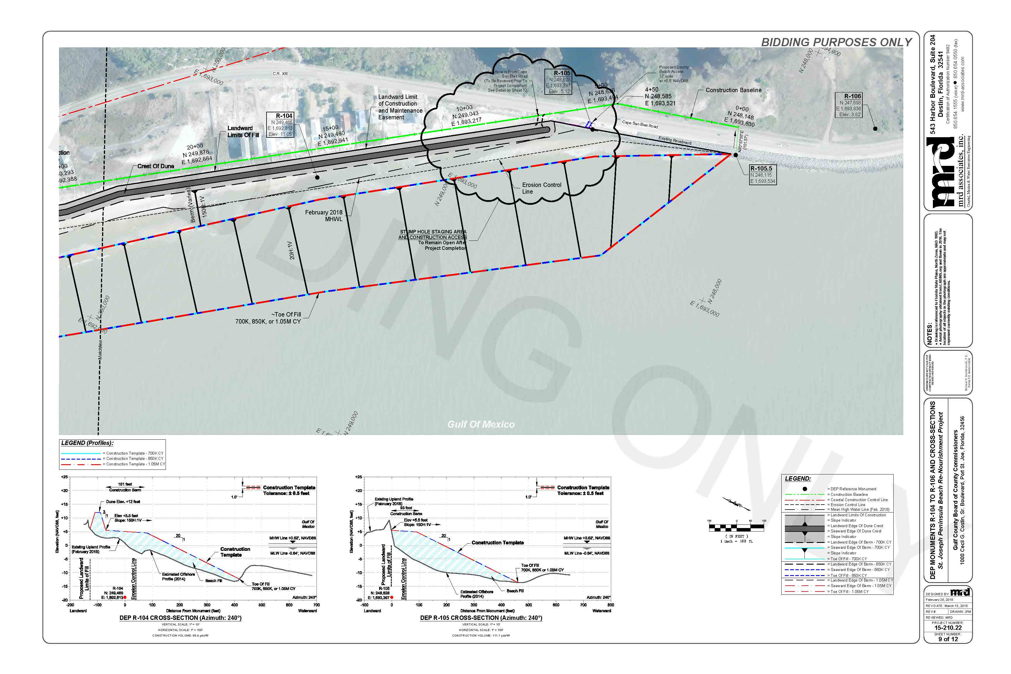Construction Drawings For The 2018 Re Bidding